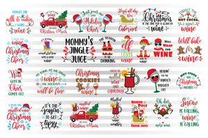 Christmas Wine SVG Bundle, Wine Glasses SVG Files, Wine Clipart, Wine Sayings for Sublimation, Red Truck With Christmas Tree PNG, Snowman SVG, Adult Humor SVG, Wine Ornaments SVG Cut Files-by Illustrator Guru