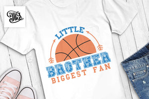 Little brother biggest fan SVG, basketball brother svg, basketball season svg, basketball brother shirt svg, basketball shirt svg,-by Illustrator Guru