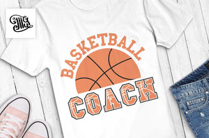 Basketball coach SVG, Basketball svg, basketball half svg, basketball coach shirt svg, basketball shirt svg, coach svg, coach clipart-by Illustrator Guru