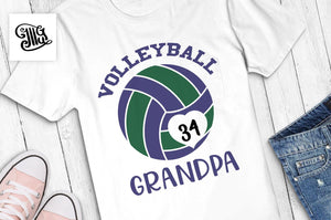 Volleyball svg, Volleyball grandpa svg, volleyball monogram svg, volleyball grandpa shirt svg, mom svg, volleyball grandpa clipart,-by Illustrator Guru