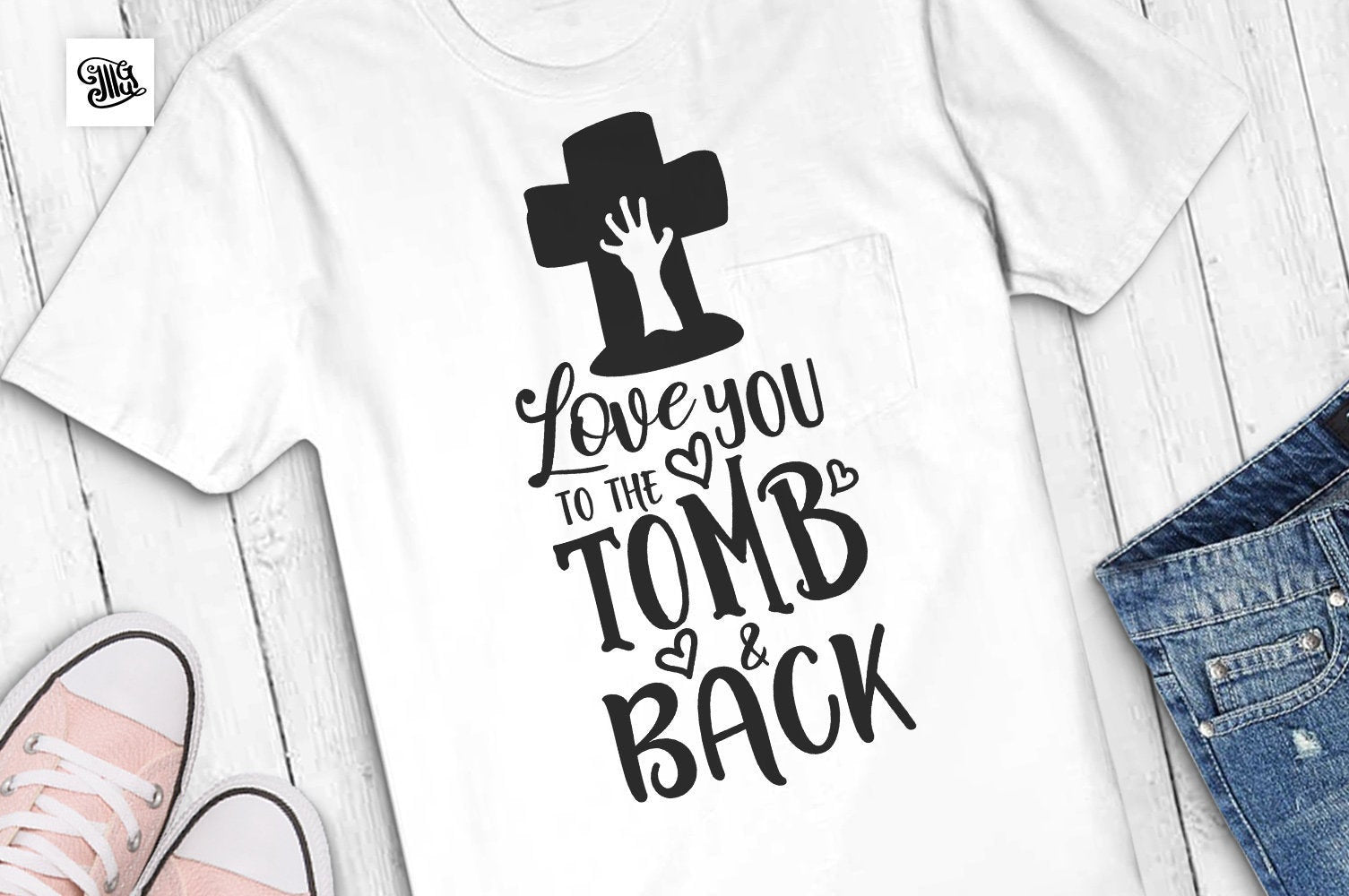 Love you to the tomb and back svg, halloween girl svg, halloween zombie svg, zombie hand svg, halloween svg, girl svg file,girl cut file-by Illustrator Guru