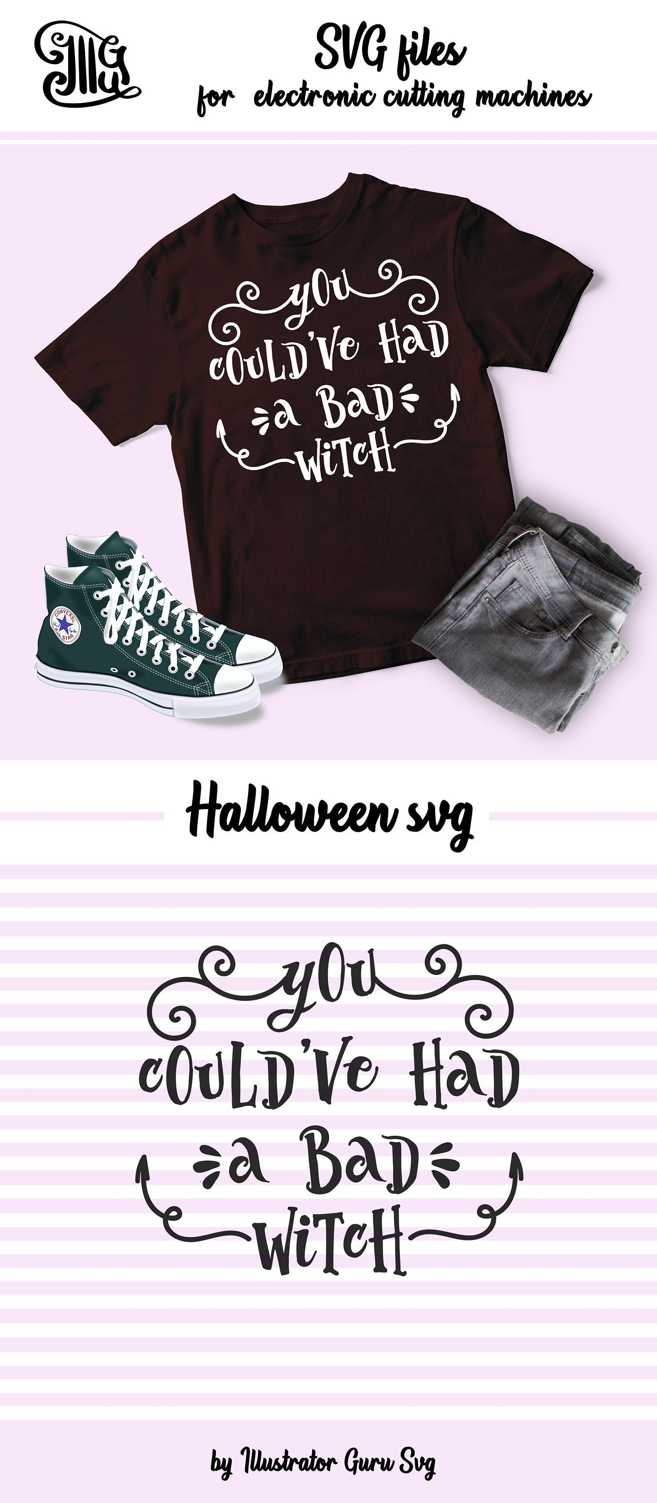 You could've had a bad witch svg, halloween girl svg, halloween witch svg, witch svg, halloween svg, girl svg file,-by Illustrator Guru