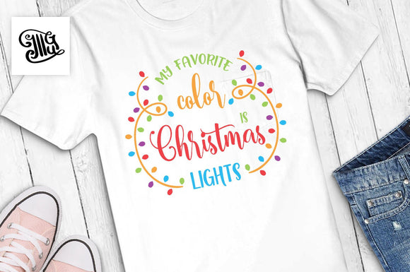 My Favorite Color Is Christmas Lights Svg Free | Free Christmas Lights Svg-by Illustrator Guru
