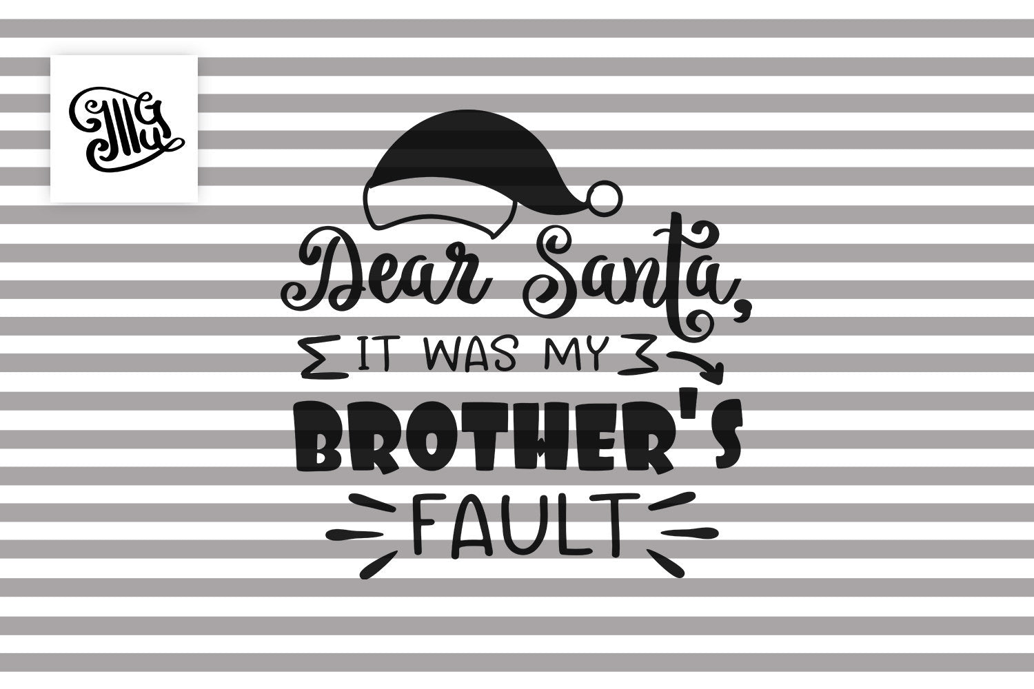 Dear Santa it was my brother's fault svg, Christmas sister svg, funny Christmas kids svg, Christmas presents svg, Christmas svg, Christmas-by Illustrator Guru