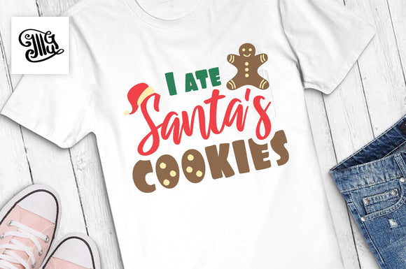 I ate Santa's cookies svg, Christmas kids svg, funny Christmas svg, Christmas boy svg, Christmas girl svg, Christmas svg, svg file, clipart-by Illustrator Guru