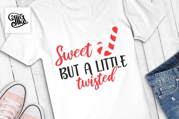 Sweet but a little twisted svg, Christmas girl svg, Christmas mom svg, Christmas candy svg, funny Christmas girl cut files, Christmas svg,-by Illustrator Guru