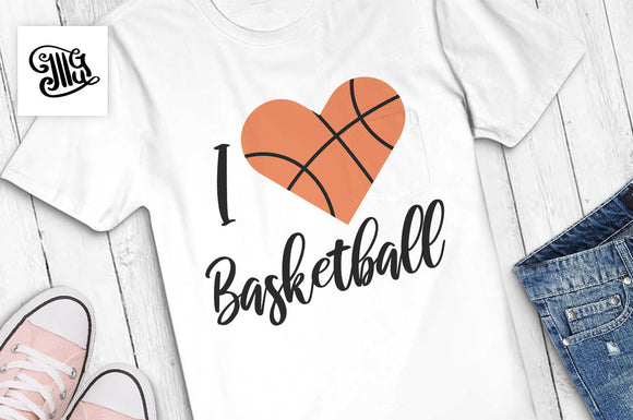 Basketball Heart Svg Free | Free Basketball Svg Cut Files-by Illustrator Guru