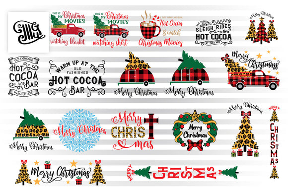 Christmas Sign SVG Cut Files, Bufallo Plaid Clipart, Red Truck With Christmas Tree PNG, Leopard Print SVG, Cocoa Sign SVG Files, Christmas Camper SVG, Merry Christmas SVG, Christmas Movies SVG, Snowflake Mandala SVG, Religious SVG-by Illustrator Guru