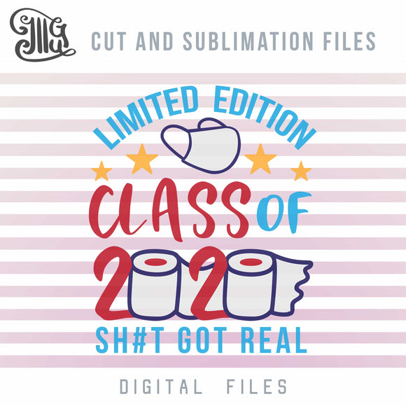 Class of 2020 Svg, Quarantine Senior 2020 Svg, Toilet Paper Crisis Sublimation PNG, Graduation 2020 Clipart,-by Illustrator Guru