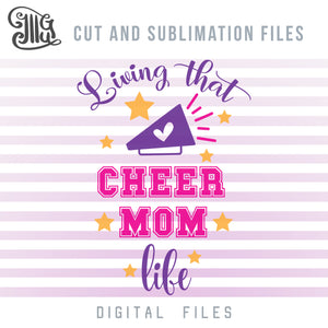 Cheer Mom Shirts SVG, Cheer Mom Clipart, Cheer Mom Sublimation, Cheer Megaphone PNG, Cheerleading Quotes and Sayings, Cheerleading SVG,-by Illustrator Guru