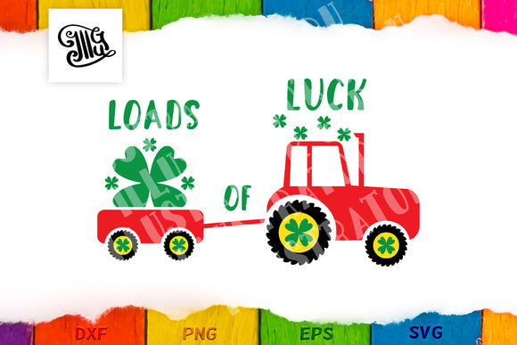 Loads of luck with farm tractor-by Illustrator Guru
