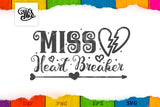 Miss heart breaker svg for little girls-by Illustrator Guru