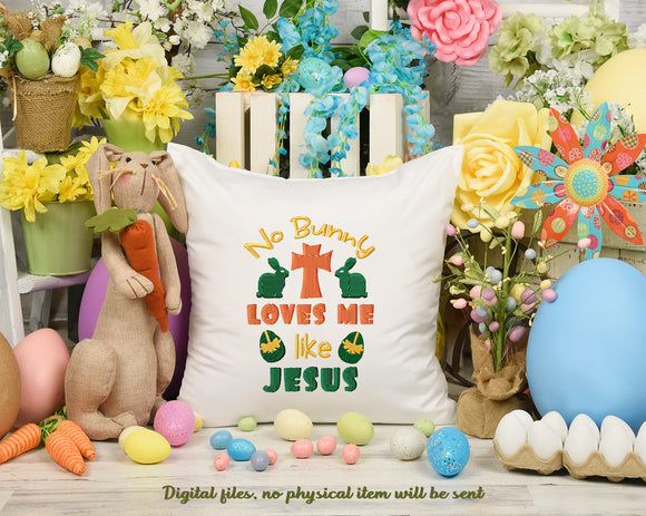 No Bunny Loves Me Like Jesus Free Embroidery Design | Religious Embroidery Designs Free, Free Christian Embroidery Designs to Download,-by Illustrator Guru