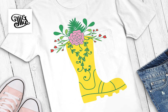 Rain boots with flowers SVG | Boots svg | Southern svg | Southern girl svg, Southern sayings svg svg | Southern sayings svg-by Illustrator Guru