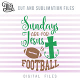Sundays are for Jesus and football SVG, football mask svg, football cross svg, football shirt clipart, football bow svg, american football svg, football game day sublimation, football decal svg,-by Illustrator Guru