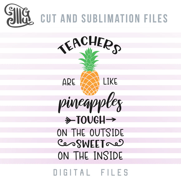 Teacher SVG Files, Clipart of Pineapple SVG, Golden Pineapple PNG, Teacher Quotes SVG, Cute Pineapple SVG, Pineapple Decal SVG, Teacher Shirt SVG Cut Files,Tropical SVG, Summer SVG, Vacation SVG,-by Illustrator Guru