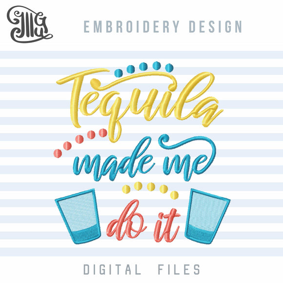 Tequila Embroidery Designs, Drinking Embroidery Pattern, Alcohol Embroidery Sayings, Cocktail Embroidery, Kitchen Towels Embroidery, Party Embroidery, Wine Bags Embroidery, Drinking Shirts Embroidery,-by Illustrator Guru