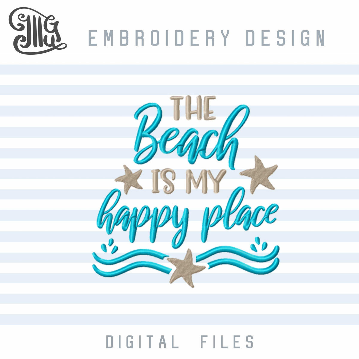 Beach Embroidery Designs, Beach Quotes Embroidery Patterns