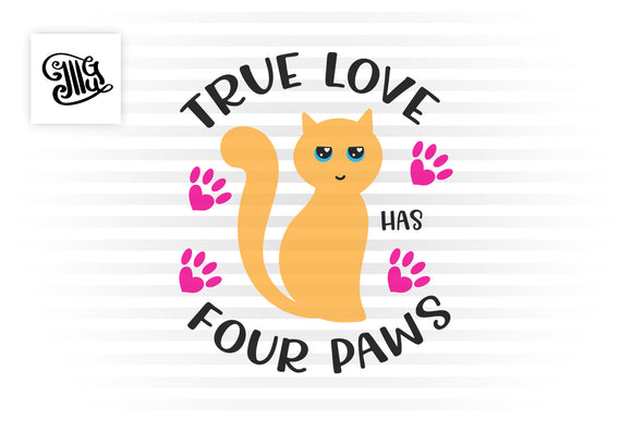 Cat Valentine svg with cute cat face design for valentine cat lover crafts-by Illustrator Guru