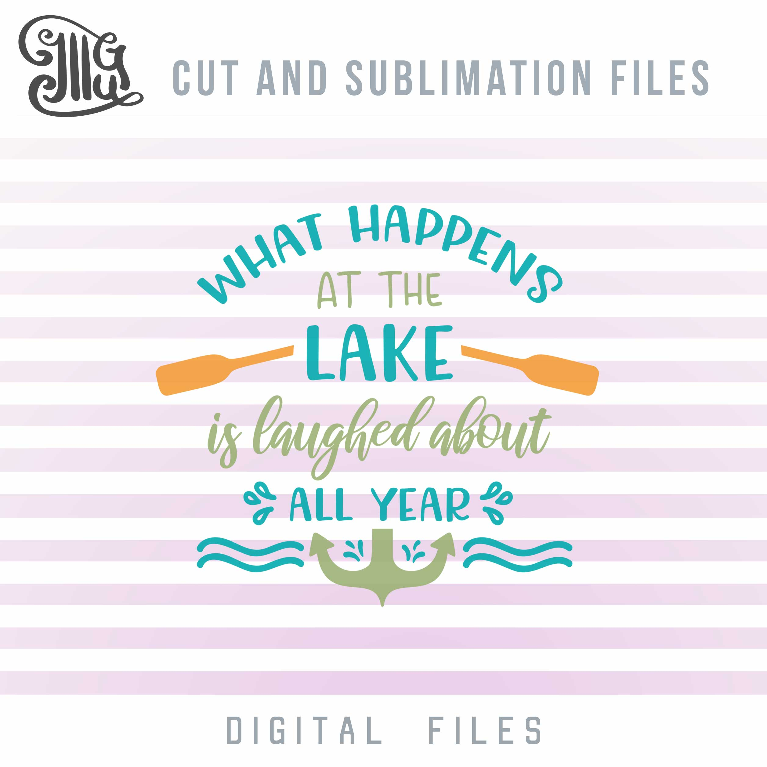 Lake Shirt Svg Images, Anchor Svg Files, Nautical Clip Art, Sail Boat PNG, Waves Sublimation,-by Illustrator Guru
