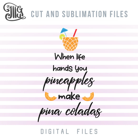 Pineapple Quote SVG, Drinking SVG Files, Gold Pineapple Clipart, Hawaiian Pineapple Clipart, Tropical Pineapple PNG, Alcohol SVG-by Illustrator Guru