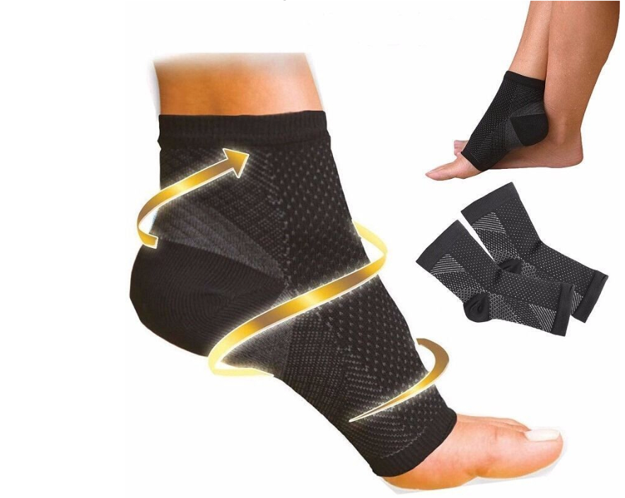 Ankle Heels Support Men Compression Foot Angel Sleeve Heel