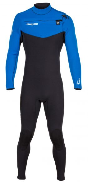 Men's VYRL 3/2mm Front Zip Wetsuit in Blue - Hyperflex