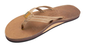 "The Sandpiper - Luxury Leather Single Layer Arch Support with a Double Narrow 1/3"" Strap - Rainbow Sandals"