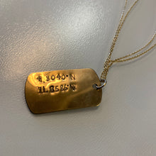 Load image into Gallery viewer, Coordinates Dog Tag - Olia