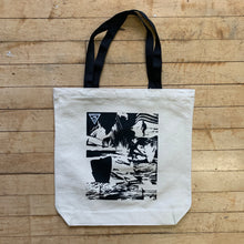"Load image into Gallery viewer, 14"" Square Day Tote - Surfy Art Project"