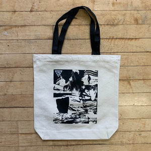 "14"" Square Day Tote - Surfy Art Project"