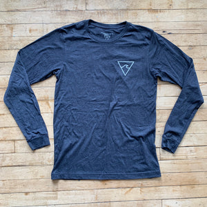 RISC Premium Long Sleeve Tee in Charcoal - Rhode Island Surf Co.