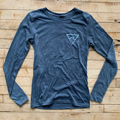 RISC Premium Women's Long Sleeve Tee in Grey - Rhode Island Surf Co.