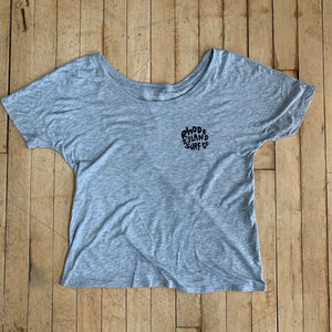 Fin + Flower Ladies Slouchy Tee - Rhode Island Surf Co.
