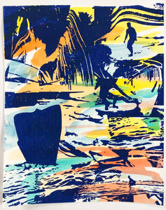 "8"" x 10"" Surfy Art Project Artwork Limited Edition 8 of 10 - Surfy Art Project"