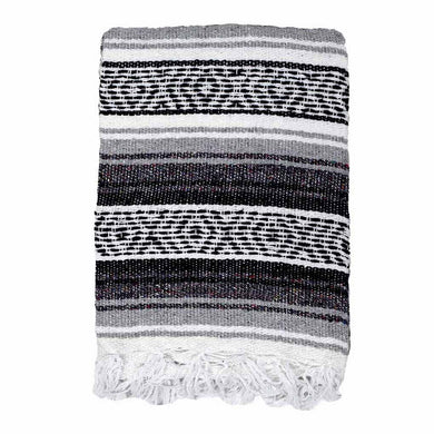 Black and White Baja Diamond Mexican Blanket - Rhode Island Surf Co.