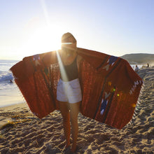 Load image into Gallery viewer, Rust Baja Fish Mexican Blanket - Rhode Island Surf Co.