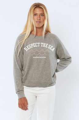 Respect The Sea Long Sleeve Knit Fleece