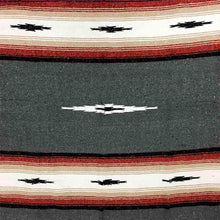 Load image into Gallery viewer, Charcoal Baja Diamond Mexican Blanket - Rhode Island Surf Co.