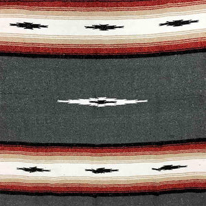 Charcoal Baja Diamond Mexican Blanket - Rhode Island Surf Co.