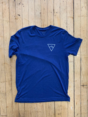 RISC Premium Tee in Heather Blue - Rhode Island Surf Co.