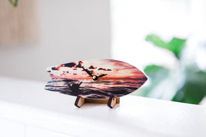 Shaka Wave Surfboard Table Clock with Stand
