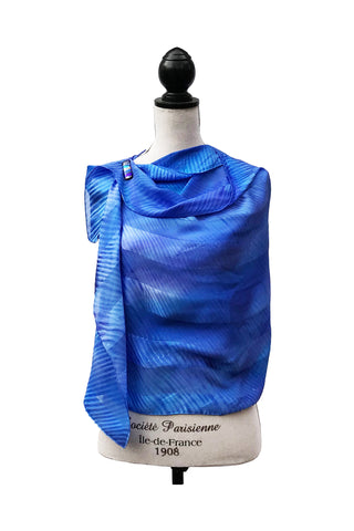 Divine Blue and Purple Silk Wrap | Shawl