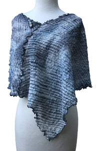 Eye-Catching Changeable Over-the-Shoulder Silk Poncho