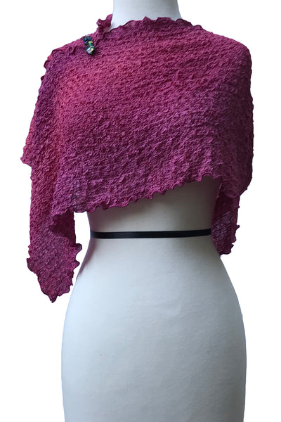 Elegant Dusty Rose Versatile Silk Poncho