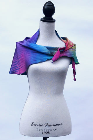 Eye-catching Charmeuse Silk Scarf