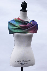 Graceful Jacquard Silk Scarf