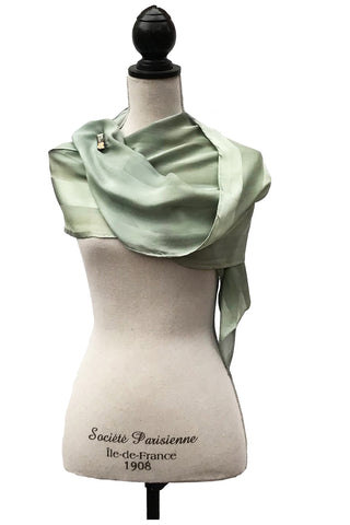Fab Green and Grey Silk Scarf