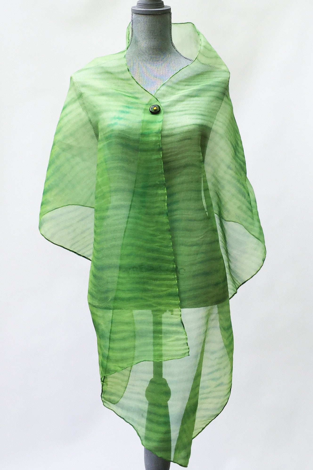 Tranquil Green Silk Wrap | Shawl