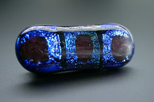 Blue, Black & Green Dichroic Glass Scarf Magnet
